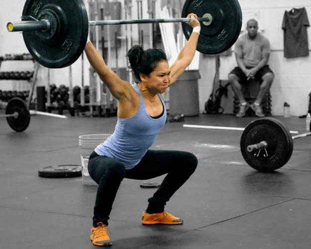 Deep Overhead Squatting in the gym